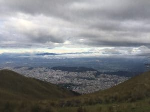A view over the city of Quito, Ecuador