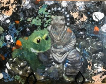 There is no end of subjects for an artist to paint. Even limiting oneself to frogs, there are infinite possibilities.